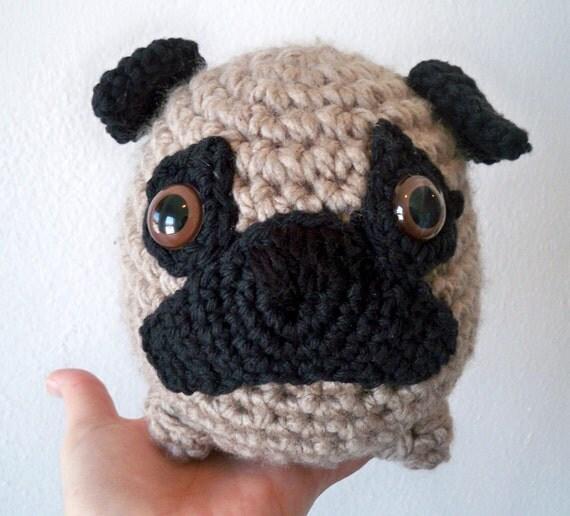 Items similar to Fat Crochet Pug on Etsy