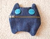 Monster-cat Coin Purse - Wallet -Small zippered coin purse