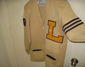 Los Angeles Lakers Letterman Cardigan True Vtg Rare Collectible Letter Sweater