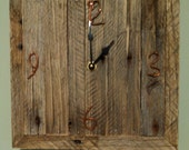Rustic Palletwood Wall Clock