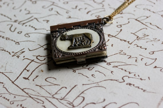 Rome Book Necklace