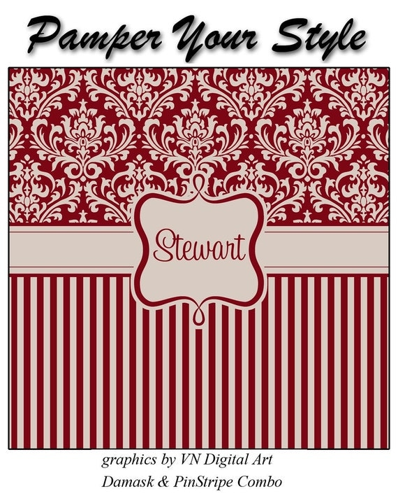 ON SALE- Burgundy and Tan - Personalized Shower Curtain, Custom Monogrammed Curtain