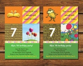 The Lorax Birthday Party Invitations - 2 Sets of DIY Printables
