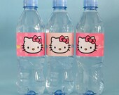 Hello Kitty DIY Water Bottle Labels: 6 Designs