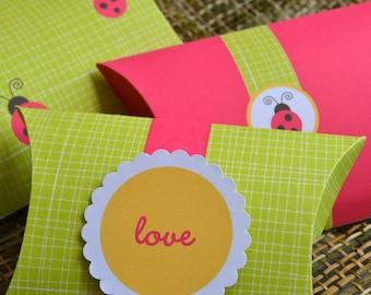 3 Ladybug Birthday Favor Box Printables, Daisy Ladybug Party Favor Boxes, Ladybug Favor Bags, Pink Ladybug Party Gift, Ladybug Gift Bags