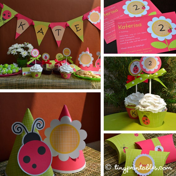 Ladybug Birthday Party Printables With Matching Invites