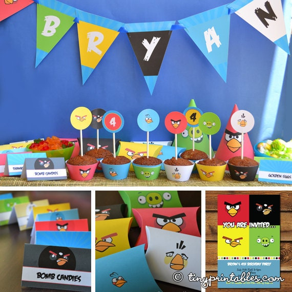 Angry Birds Birthday Party Printables With Matching Invitation