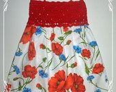 Poppy flower crochet pretty summer dress Size 3-4 years