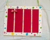 Polka Dot and Stripe Hair Bow Holder/ Hair Bow Holder/Ready to Ship
