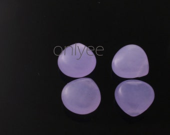 6pcs-11mmX11mm Candy Jade puffy Teardrop 7Colors-Lilac(L121-E)