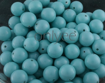 20pcs-8mm Shell Pearl Beads Smooth Rounds Strands 4Colors-Sky Blue(L144-SB)