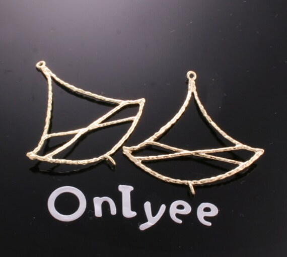 8pcs-34mmX34mm 14K Gold plated Chandelier Shaped Wire Charms/ pendants(K167G)