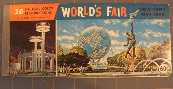 Reserved for Sandra -1964 1965 New York Worlds Fair Postcards In Booklet of 20 Natural Color Reproductions Ford Motor, Shea Stadium