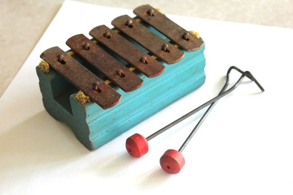 Vintage Mini Xylophone - Super cute and small