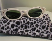 1940's White Sunglasses