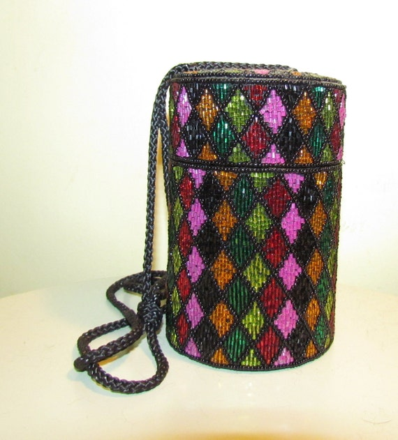 Bob Mackie Multi-Colored Beaded Purse