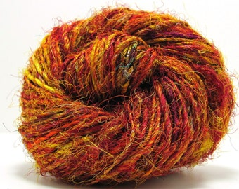 Elements Recycled Silk Yarn in Flame by Mango Moon