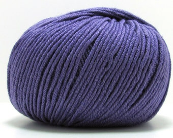 Baby Cashmere/Merino Silk Yarn in Purple Heart by Sublime