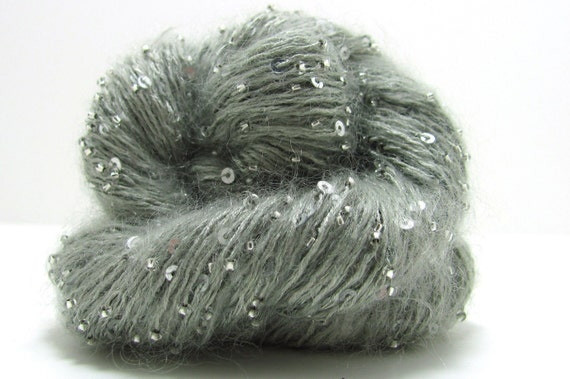 Beaded Mohair and Sequins Yarn by Artyarns