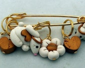 Stitch Markers ANGEL BUNNY  for Knit or Crochet set of 6