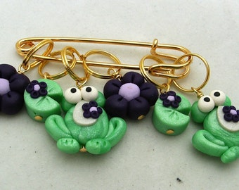 Stitch Markers FROGS Custom order for kcbfrogger64