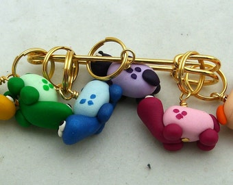 Stitch Markers HERD of TURTLES  for Knit or Crochet set of 6