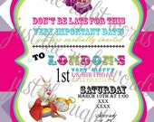 Alice in Wonderland Invitations.  Customize and print at home