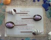 Beachcomber Shoreline Hair Pins - Two Pair With Lovely Shells