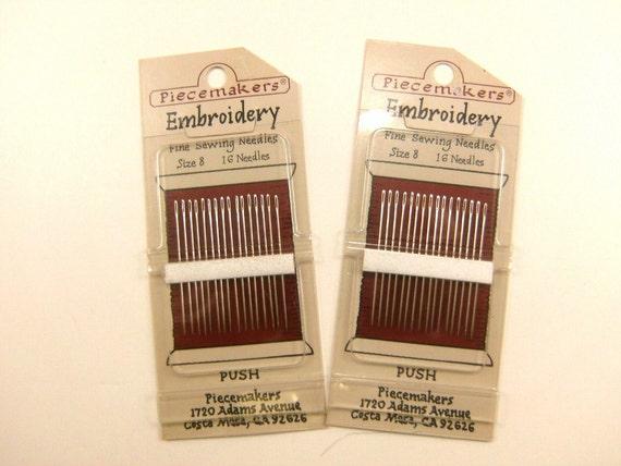 Destash Needles Piecemaker Brand Embroidery Fine Sewing Needles Size 8