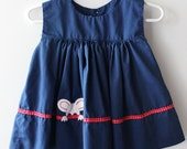 Vintage Mouse Baby Dress