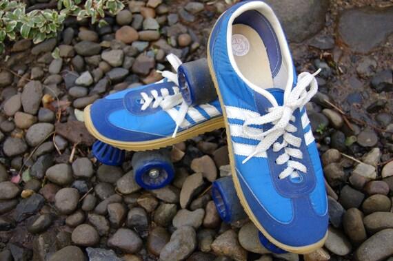 Super groovy, Nash/Adidas '70s Sneaker Roller Skates (Men 9/Women 11) White on Blue