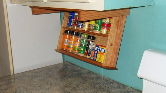 "Items Similar To 18"" Spice Rack Drawer, Under Cabinet Mounting For Convenient Spice Storage. On Etsy"