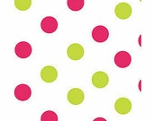 """48 sheets of PINK and GREEN DOTS 20""""x30"""" Tissue Paper"""