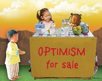 Unique Blank Greeting Card: Optimism for Sale