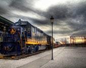 3684 - 12x8 HDR Train Photo Print