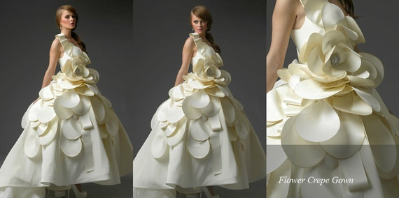 Irina Shabayeva Bridal-Magnolia flower Bridal Gown comes in sizes 4-18 IrinaBridal.com for more dreses