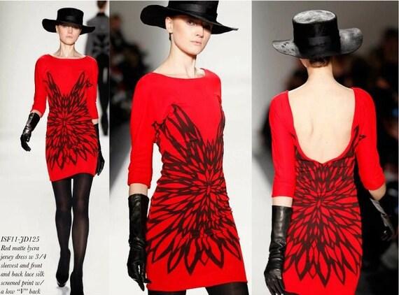 Irina Shabayeva Printed Jersey Dress