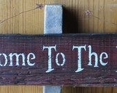"""Primitive Western Country Rustic Wood Sign """"Welcome To The Farm"""" Home Barn Decor"""
