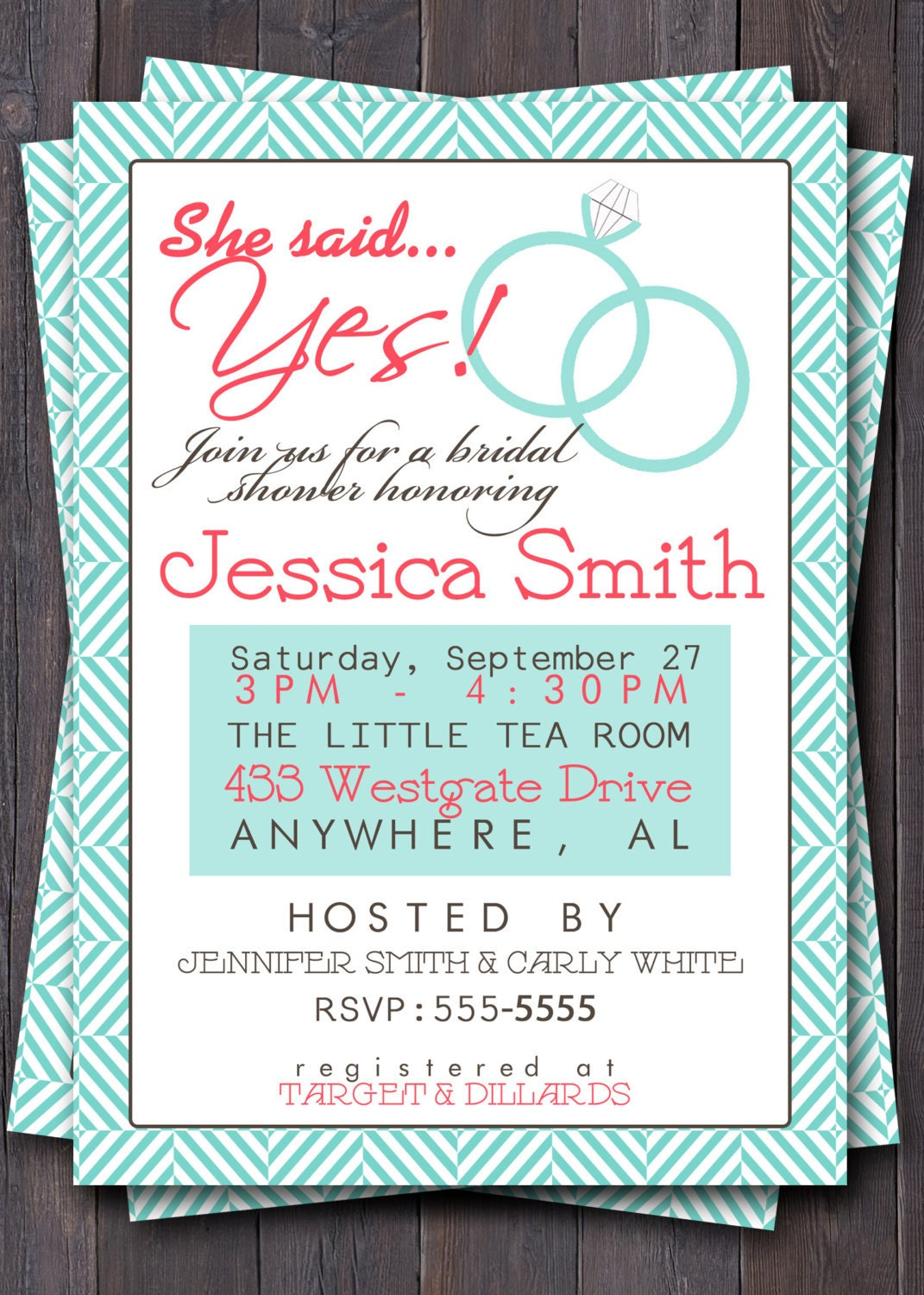 Items similar to wedding shower invitation invite bridal for Invitations for wedding shower