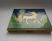 Unicorn Dreams  Limoges Business Card Holder