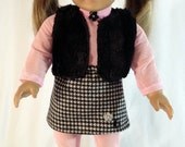 "Preppy and Pink Ice Skating Ensemble for 18"" Doll"