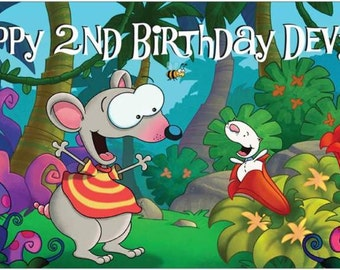 Custom Made Vinyl Treehouse Toopy & (and) Binoo Birthday Party Banner Decorations