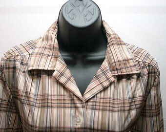 Vintage Striped Shirt Brown