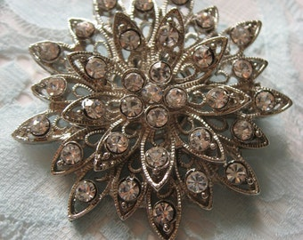 Firework round wedding bridal rhinestone crystals brooch pin, flower brooch, rhinestones brooch, wedding brooch, bridal brooch, bridesmaids