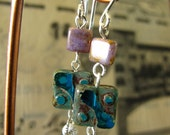 Vintage style earrings with handmade czech glass beads in silver tone: Vintage Summer Collection 2012
