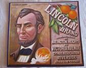 Sunkist Orange crate label LINCOLN