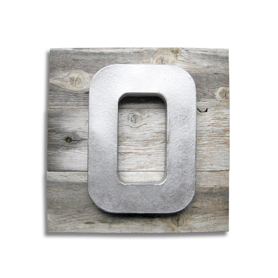 Large 12 Inch Letter O on Reclaimed Distressed Wood Art