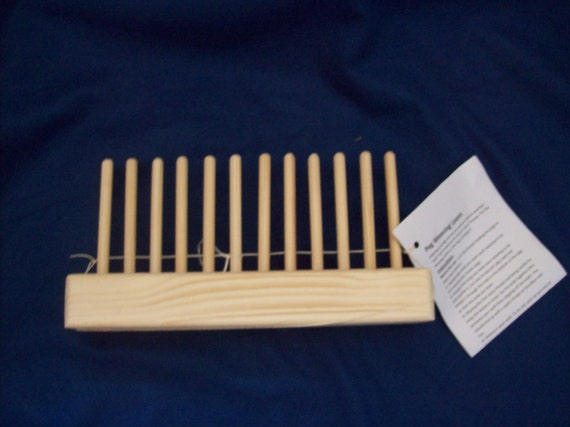 Hand crafted Peg weaving loom