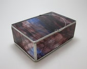 Purple w/ Blue Streaked Stained Glass Box, 4x6 (Made to Order)