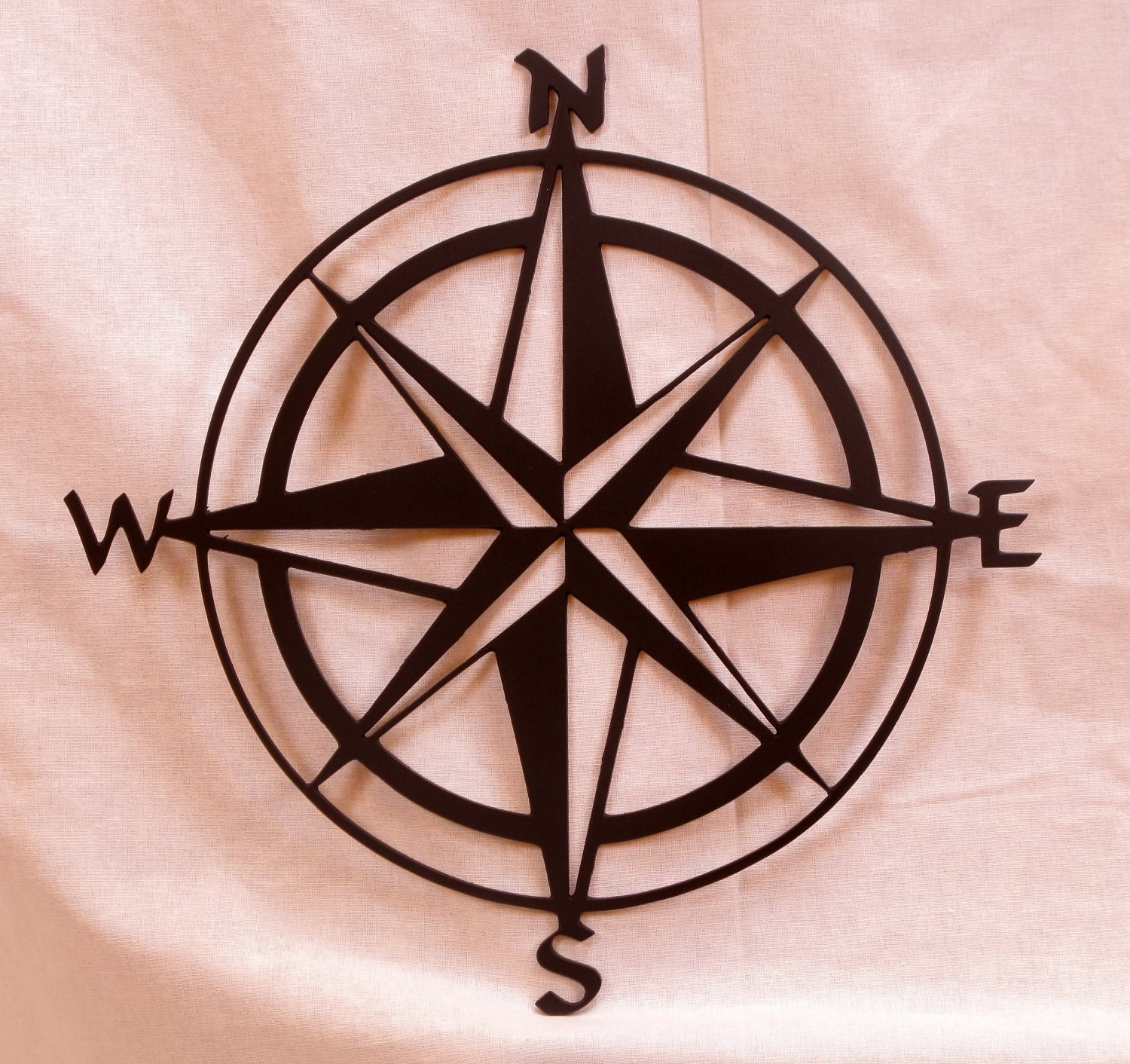 compass rose metal wall art by bcmetalcraft on etsy